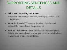 how to write a basic paragraph ppt video online 5 supporting sentences and details