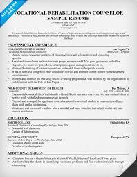 vocational rehabilitation counselor resume vocational counselor resume