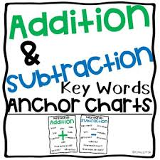Addition And Subtraction Key Words Anchor Chart Addition And Subtraction Key Words Anchor Charts