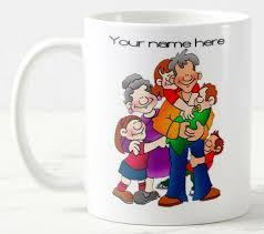 Personalise Family 11 Oz Mug Large Handle Ceramic Can Add