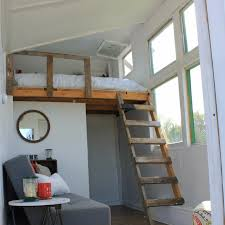 tiny house loft ladder. I Was Really Surprised At How Much Additional Storage Space The Loft Provided. Worried About Where In Tiny House Would Be Able To Store My Ladder