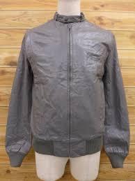 m size vintage leather jacket wi wilson grey 15jan28 4999 yen