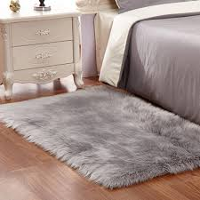 pinkday faux fur area rug sheepskin area rug gy rug for home decoration grey thick and