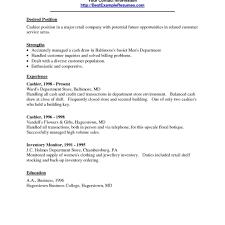 Resume Fast Food Manager Job Description Restaurant Cashier With