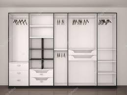 empty walk in closet. Modern Black And White Empty Walk-in Closet \u2014 Stock Photo Walk In P