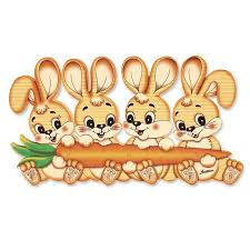 bunny family wall decor for kids rooms