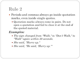 Outstanding Quotation Punctuation Rule 1 Use Marks To Set