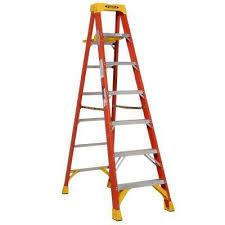 7 ft fiberglass step ladder with shelf 300 lb load capacity type ia duty