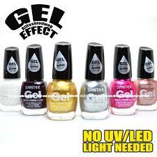 Gelshine Led Light Santee 6 Gel Effect Shine Nail Polish No Uv Led Light Needed Lacquer Set B Free