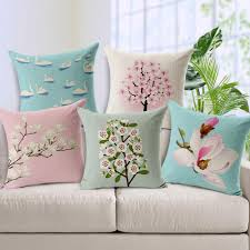 small pillow covers. Beautiful Pillow Retro Small Fresh Magnolia Cushion Cover Hand Painted Orchid Pillow  Linen Cotton Square Case For Bedroom Sofa Car Decoration Large Outdoor  Covers L