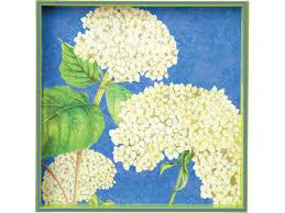 Rock Paper Flower Trays White Hydrangea Square Tray By Rock Flower Paper