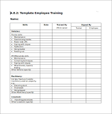 Training Checklist Sample 16 Documents In Pdf Word