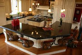 Granite Kitchen Island Table Marvelous Kitchen Granite Countertop With Nice Big Kitchen Island