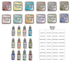 Tim Holtz And Ranger 2018 Release Distress Oxide Inks Bundle Includes 12 Distress Oxide Ink Pads 12 Distress Oxide Ink Reinkers And Bonus Oxide Ink
