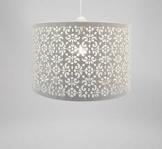 country club white 29cm moroccan ceiling light lamp shade lampshade pendant new