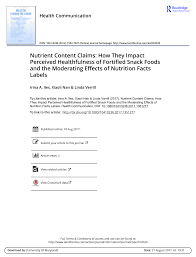 pdf nutrition claims on children s cereals what do they mean to pas and do they influence willingness to
