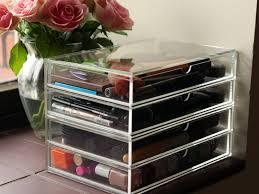 muji acrylic storage two draw and 2 draw flip lid beauty storage
