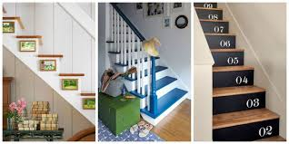 It may be small and narrow, but that doesn't mean your stairway can't get  the same decorating treatment as the rest of your house.