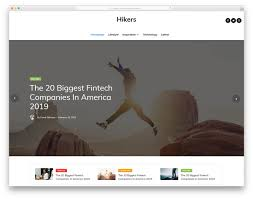 Website Template Newspaper 005 Hikers Free Magazine Website Templates Template Ideas