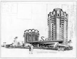 architecture design drawing. Wonderful Architecture Googie Style Architectural Design Drawing Of Sands Hotel Las Vegas  December 1963 On Architecture Design Drawing E