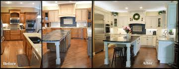 kansas city kitchen cabinet refinishing before and after