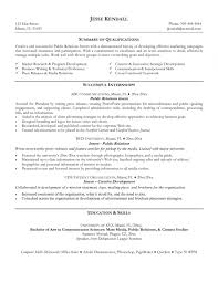 Pr Resume Examples Resume Examples Public Relations 22