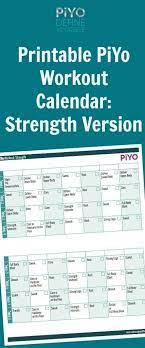 piyo workout calendar strength version