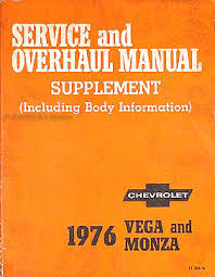 1976 chevrolet vega monza original 2 book repair shop manual set 76