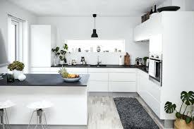 matte black countertop matte black hanging pendant fancy black white kitchen cabinet white maple tile flooring