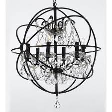 willa arlo interiors calderdale orb 6 light crystal chandelier reviews wayfair