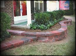 red brick on front garden landscape pavers landscaping design gardening ideas backyard quality retaining wall