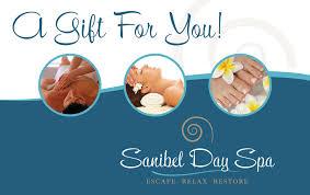 sanibel day spa gift certificate