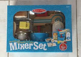 new melissa doug wooden make a cake mixer set play food kitchen baking 11 pc