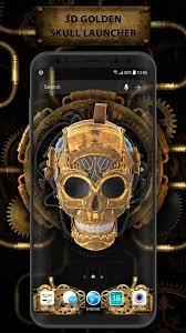 3D Golden Flaming Skull Live Wallpaper ...