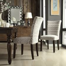 Oxford Creek Melrose Grey and White Chevron Parson Side Chair (Set of 2)  Gray - Home - Furniture - Dining & Kitchen Furniture - Dining Chairs