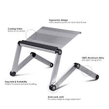 Laptop Chair Desk Furinno Adjustable Vented Laptop Table Portable Bed Tray Book