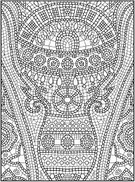 Small Picture Printable Mosaic Coloring Pages for Free 7124 Mosaic Coloring