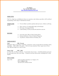 Chef Resume Sample 100 Chef Resume Objective Statement Cio Resumed 53