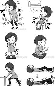 女性がひざ痛で悩んでいるモノクロのイラストです 公式