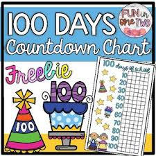 100 Days Of School Countdown Chart Freebie Ten Frames Incorporate Math