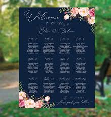 Belcher Center Seating Chart Wedding Seating Chart Template Seating Chart Wedding Navy Gold Seating Chart Wedding Seating Chart Burgundy Seating Chart Gold Sc346b