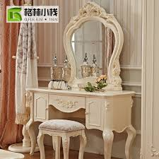 french luxury makeup mirror vanity mirror dressing table stool dresser with mirror with continental