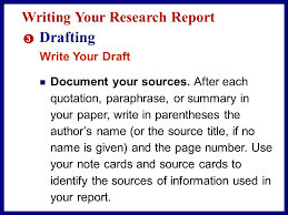 exploring a topic in depth ppt video online  drafting writing your research report write your draft