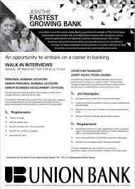 Bank Manager Job Description Assistant Manager Assistant Sales Team Leader At Union