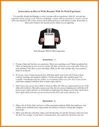 9 How To Write A Resume Experience Riobrazil Blog
