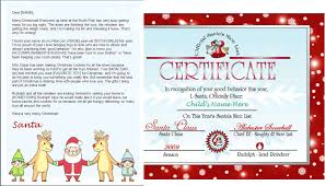 Printable Christmas Certificates Printable Santa Letter And Nice List Certificate Santa And Friends
