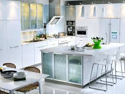 Frosted Glass Kitchen Cabinet Doors Unique Modern White Style Antarti