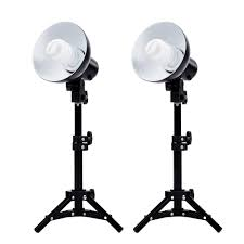 com fovitec studiopro 2x photography fluorescent lamp lighting kit 2x cfl lamps and bulbs included photo