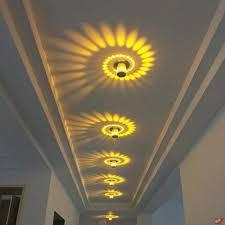 110v 220v aluminum spiral led wall lamp bedroom
