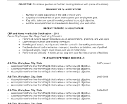 Sample Resume Cna Cna Resume Samples Free Templates Examples With Experience Sample 32